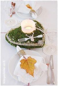 herbstliche Tischdeko, romantisch im Shabby Chic - Wohnen und Garten Foto #herbstlichetischdeko