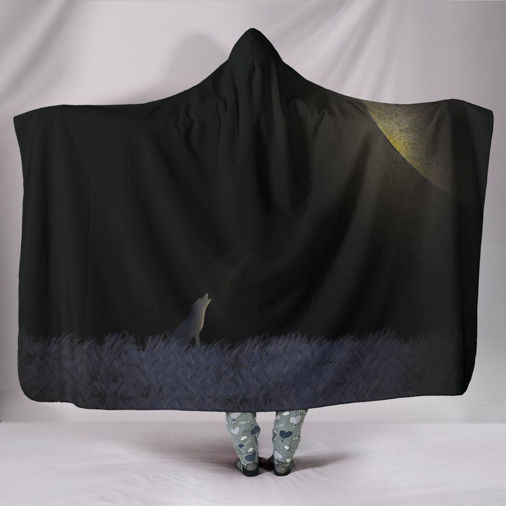 Photo of Howl at the Moon – Hooded Blanket – Howl at the Moon / Adult 80×60