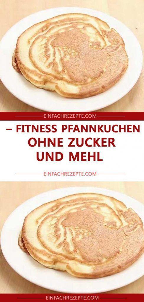 Fitness Pfannkuchen – ohne Zucker und Mehl