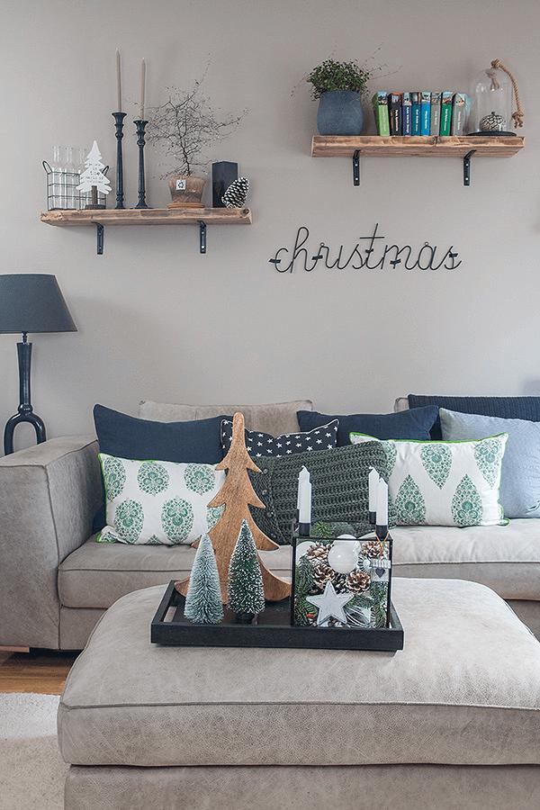 wohnzimmer weihnachtlich dekoriert dekoideen. Black Bedroom Furniture Sets. Home Design Ideas
