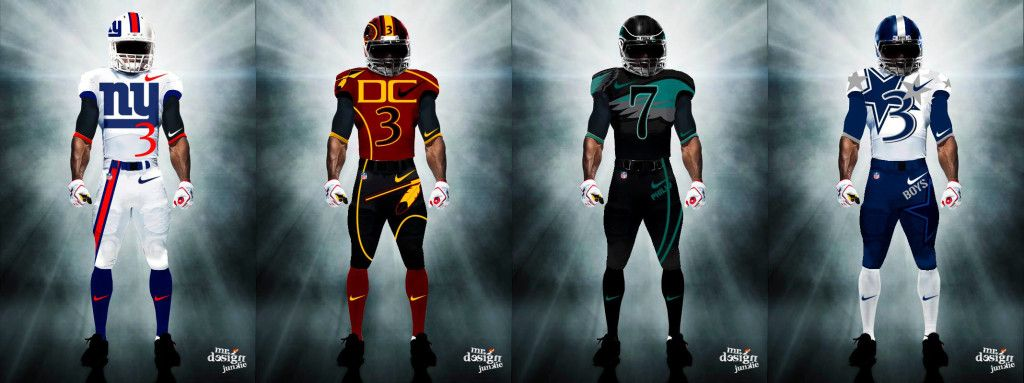 9b6c86460 Mr. Design Junkie All 32 NFL Team s Uniforms Redesigned