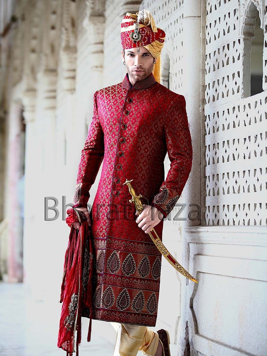 Ethnic wedding look sherwani mens clothing pinterest ethnic