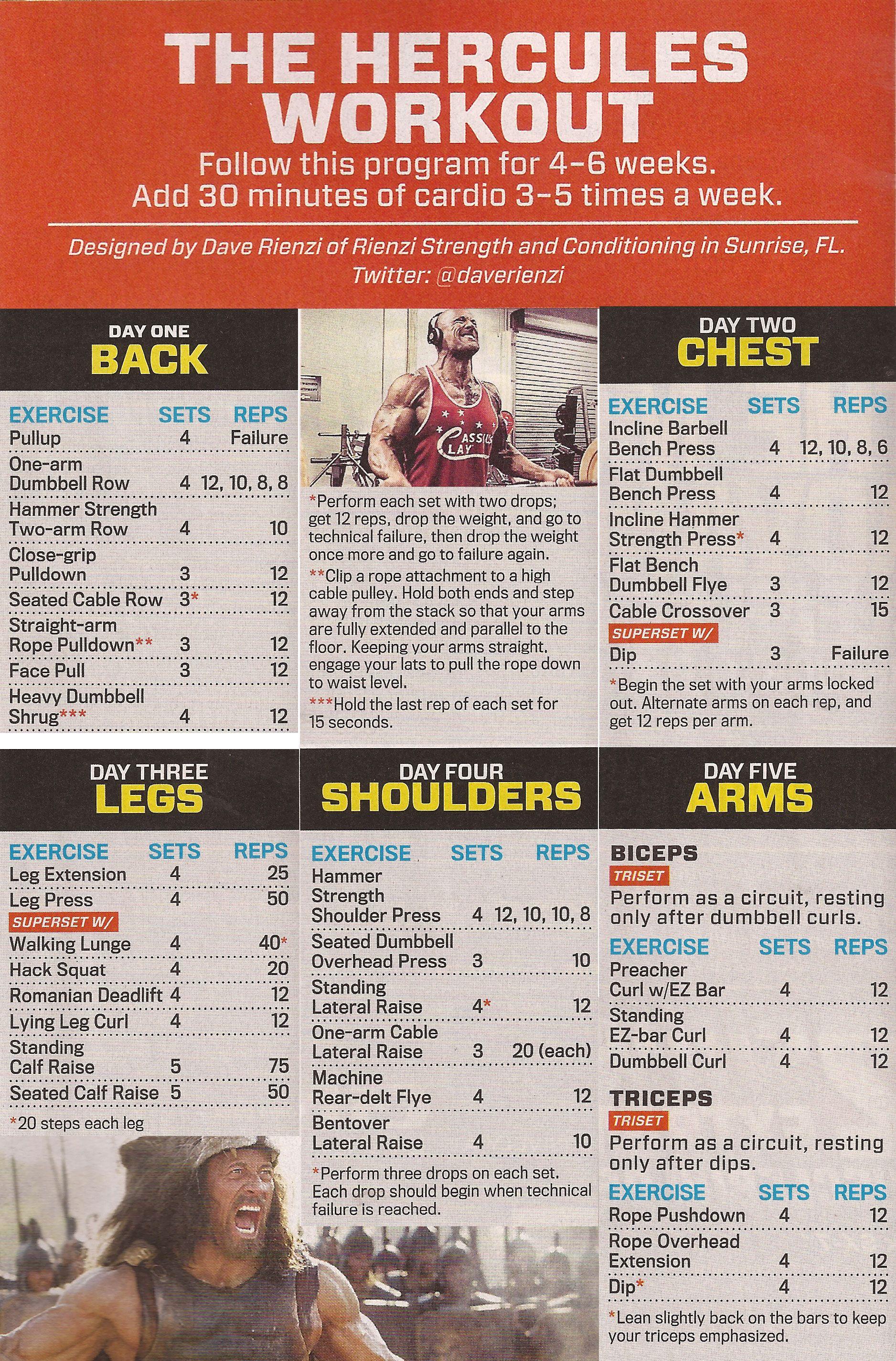 Best 25+ The rock hercules workout ideas on Pinterest ...