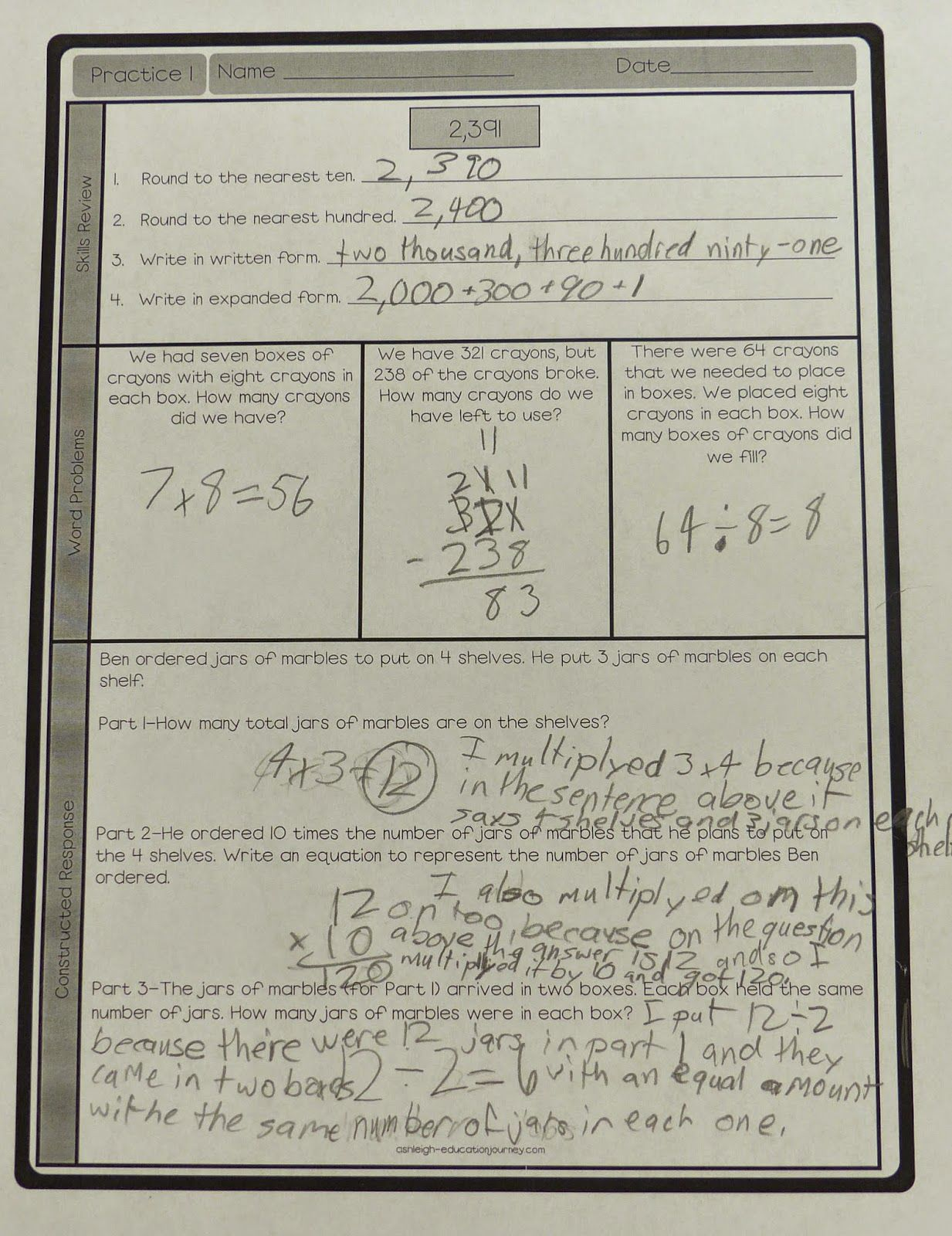 Constructed Response Examples Here Are A Few Examples Of