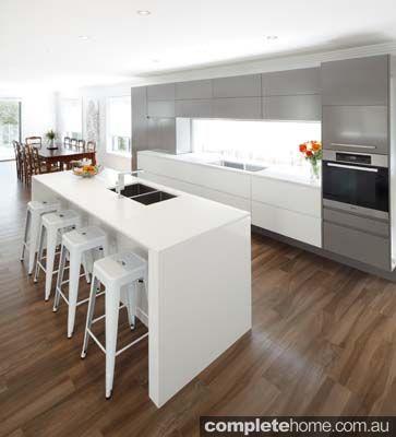 designline kitchens - white and timber kitchen design   atrium