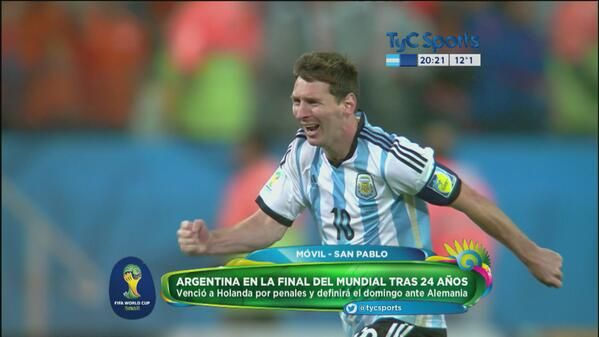 Argentina Goes To Final Mundial2014 Worldcup2014 Football Messi Argentina Porteno San Pablo