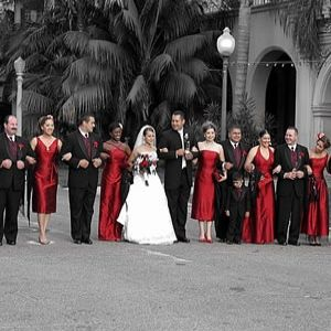 Interesting Ideas For A Red Wedding Theme Looks Very Elegant Diffe Length Dresses