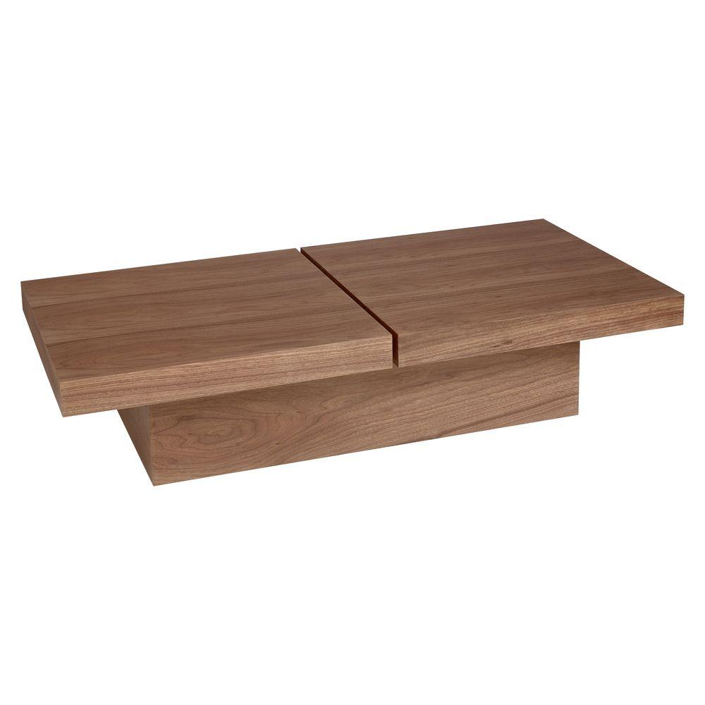 Two Block Storage Coffee Table Walnut Walnut Coffee Table Plans