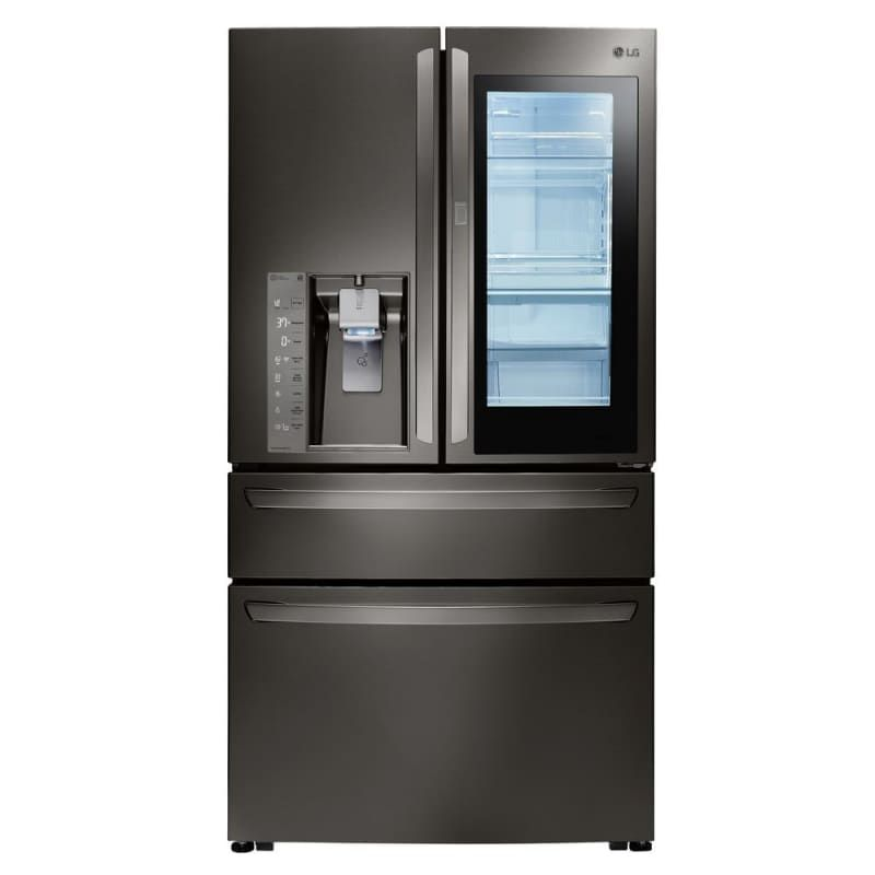 Lg Lmxs30796 36 Inch Wide 29 7 Cu Ft Energy Star Rated French Door Refrigerato Black Stainless Steel Refrigerators French Door French Door Refrigerator French Doors Kitchen Appliance Packages