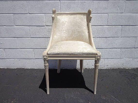Chair Swan Neck Eclectic Vintage Armchair Seating Regency