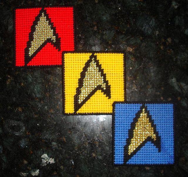 Star Trek Coaster Set In GOLD   Stuff I want to make   Pinterest