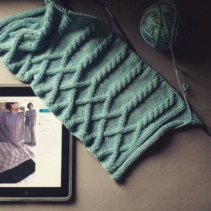 Duck Egg Cableway project shared on the LoveKnitting Community