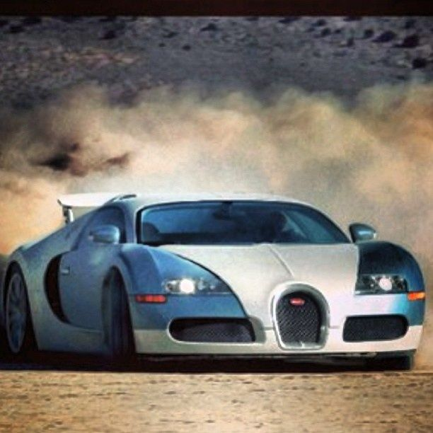 Bugatti Fierce Veyron having fun on the sand #drift