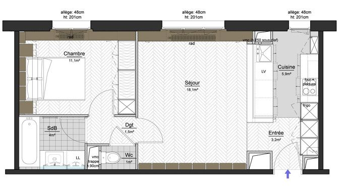 Great Plans Pour Aménager Et Décorer Un Appartement De 30m2 | Studio, Interiors  And Tiny Houses