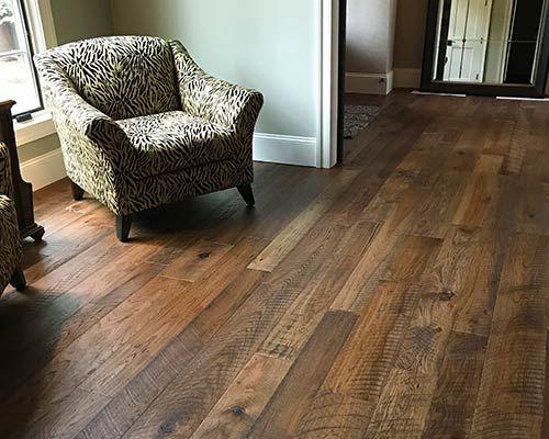 Organic Hickory Installation By Dixie Flooring Inc Wood Floors Wide Plank Hickory Hardwood Floors Hickory Flooring