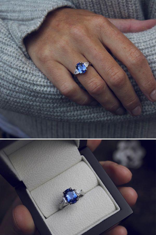 Ceylon Saphir & Diamant Ring. Verlobungsring. Hochzeitsring. - #Ceylon #Diamant #Hochzeitsring #Ring #Saphir #Verlobungsring - #diamant #diamondrings