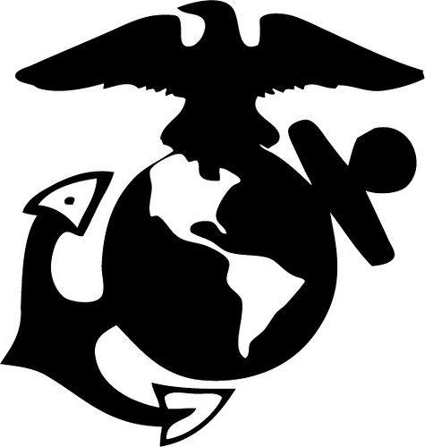 Marines | silhouette cameo | Marines logo, Marine corps emblem, Usmc
