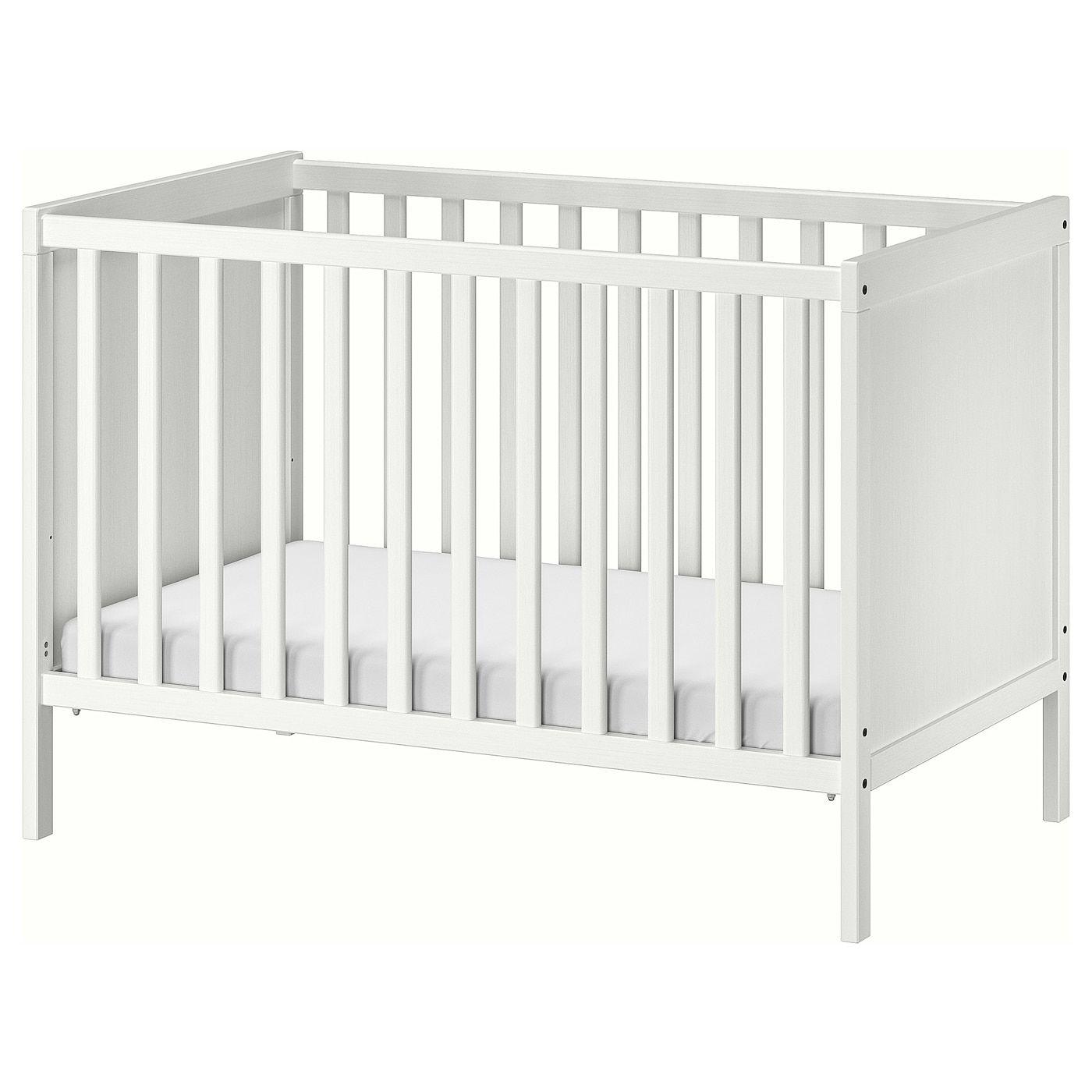 "SUNDVIK Crib - white 27 1/2x52 "" in 2020   Ikea crib, Ikea ..."