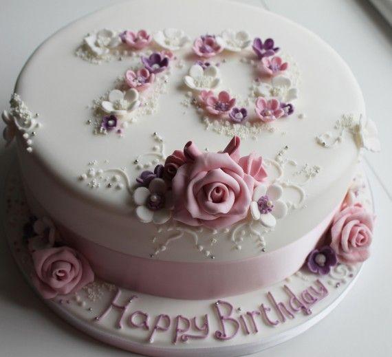 70 Birthday Cake For Mom Happy Flower
