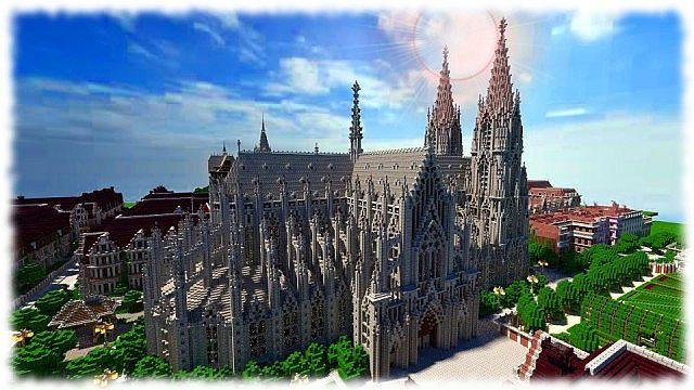 Cologne Cathedral Vitruvian City Minecraft Project Minecraft Minecraft Blueprints Minecraft Medieval