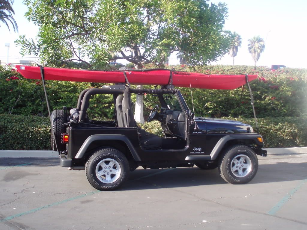 Wrangler With Kayak 2 Pcs Of Foam And Straps Patio Roof