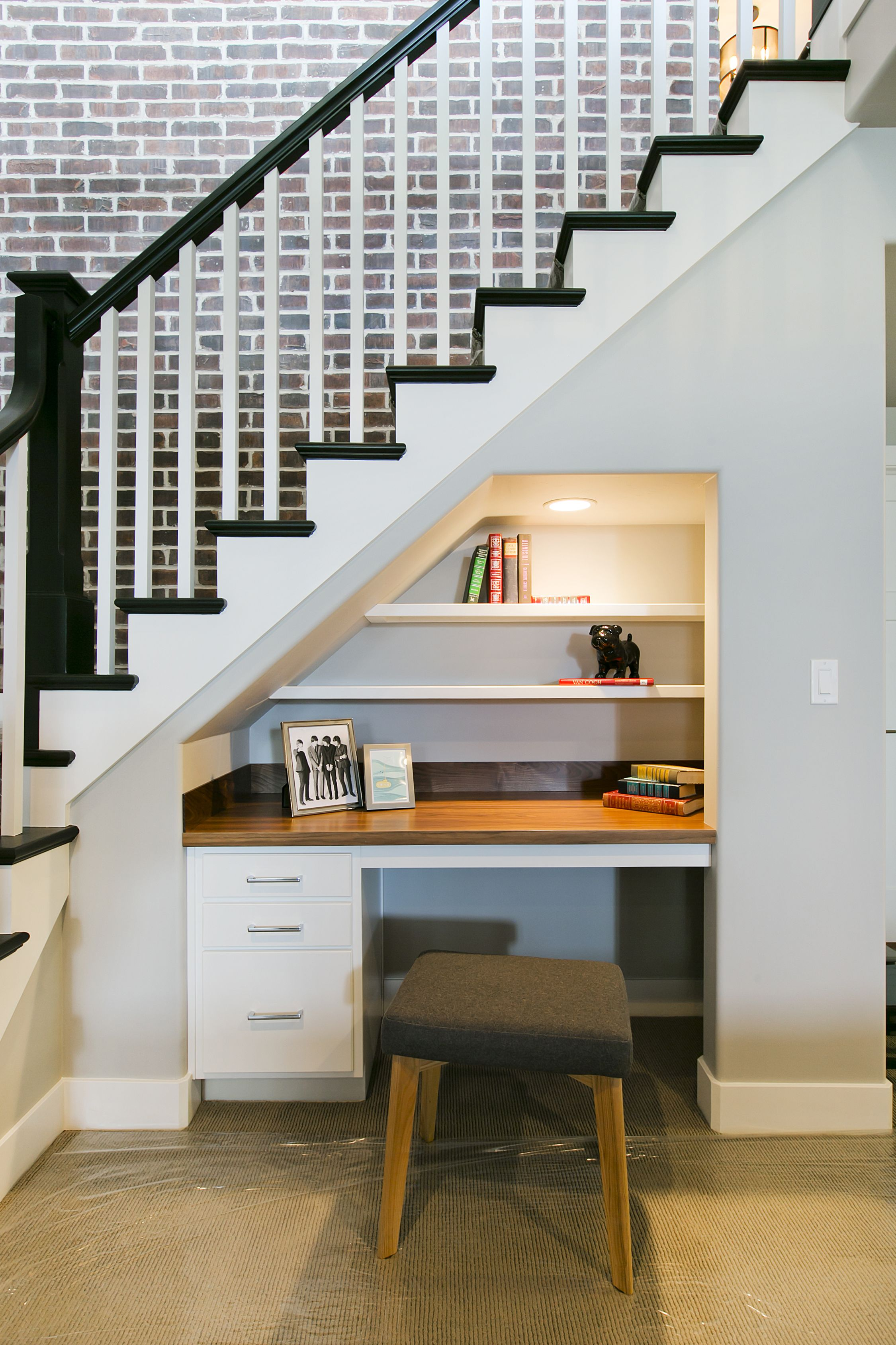 desk under stairs for the second set of stairs