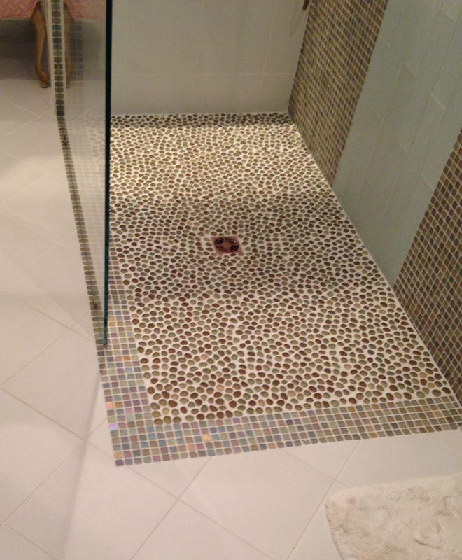 Contact Wecker S Flooring Center For Your New Tile Shower 717 755 5432 Shower Tile Glass Tile Pebble Mosaic