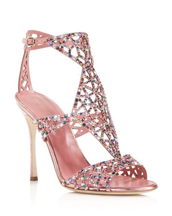 e1020dff4003dd Sergio Rossi Tresor Swarovski Crystal High Heel Sandals
