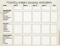 Free printable monthly budget worksheet | Worksheet, Printable ...