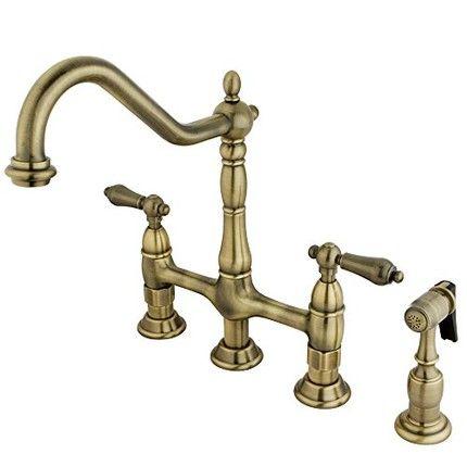 The Perfect Cozy Winter Kitchen Brass Kitchen Faucet Bridge Faucet Kitchen Kitchen Faucet