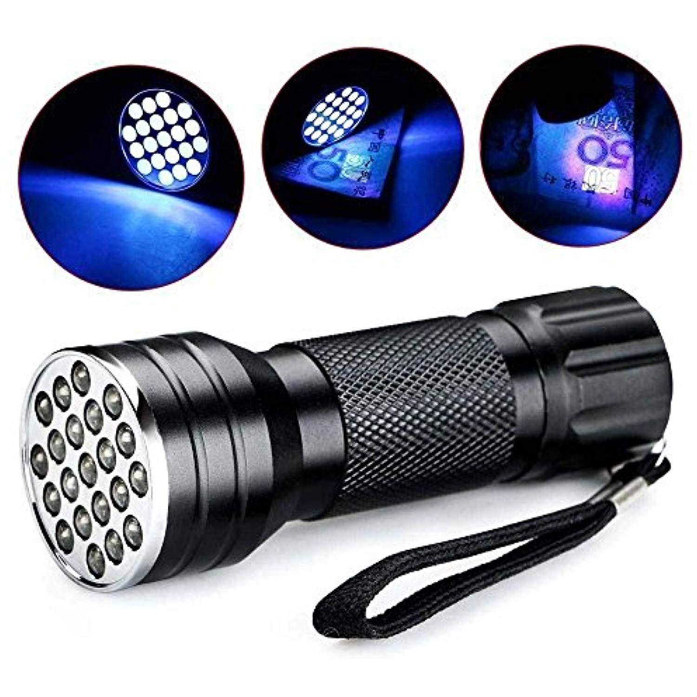 Uv Flashlight Black Light 21 Led 395 Nm Ultraviolet Blacklight For Dog Cat Urine Stains Detector Home Hotel Inspection Uv Flashlight Torch Light Flashlight