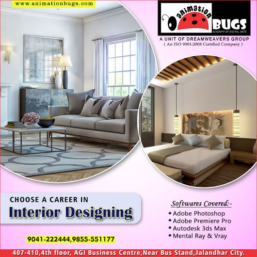 Animation Bugs is one of the Best Interior Designing Institute in Jalandhar. We provide 100