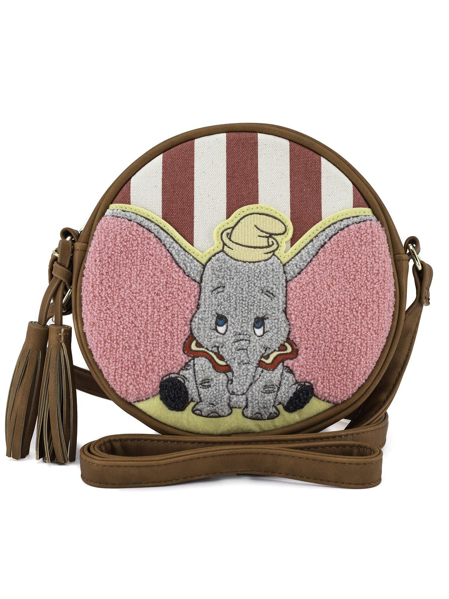 Loungefly Disney Dumbo the Elephant Vegan Striped Crossbody Bag Purse 5d07263bc6f9a