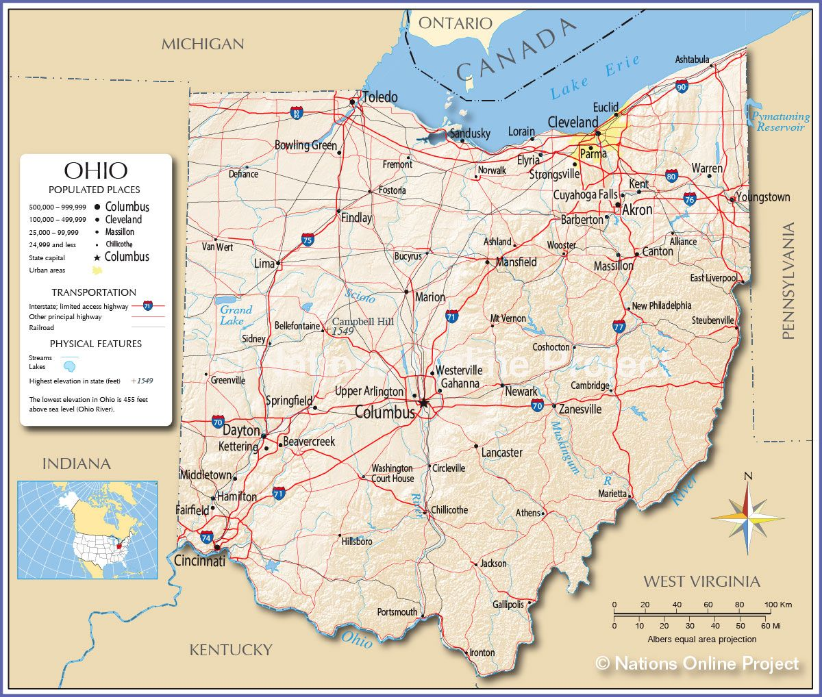 Reference Map Of Ohio Crafts Pinterest Ohio Ohio Usa And City - Map of ohio cities