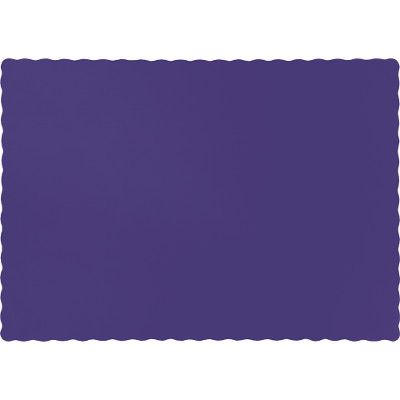 Touch Of Color Purple Solid Color 4 Ply Place Mats 863268b Purple Placemats Coloring Placemats Purple Party Decorations