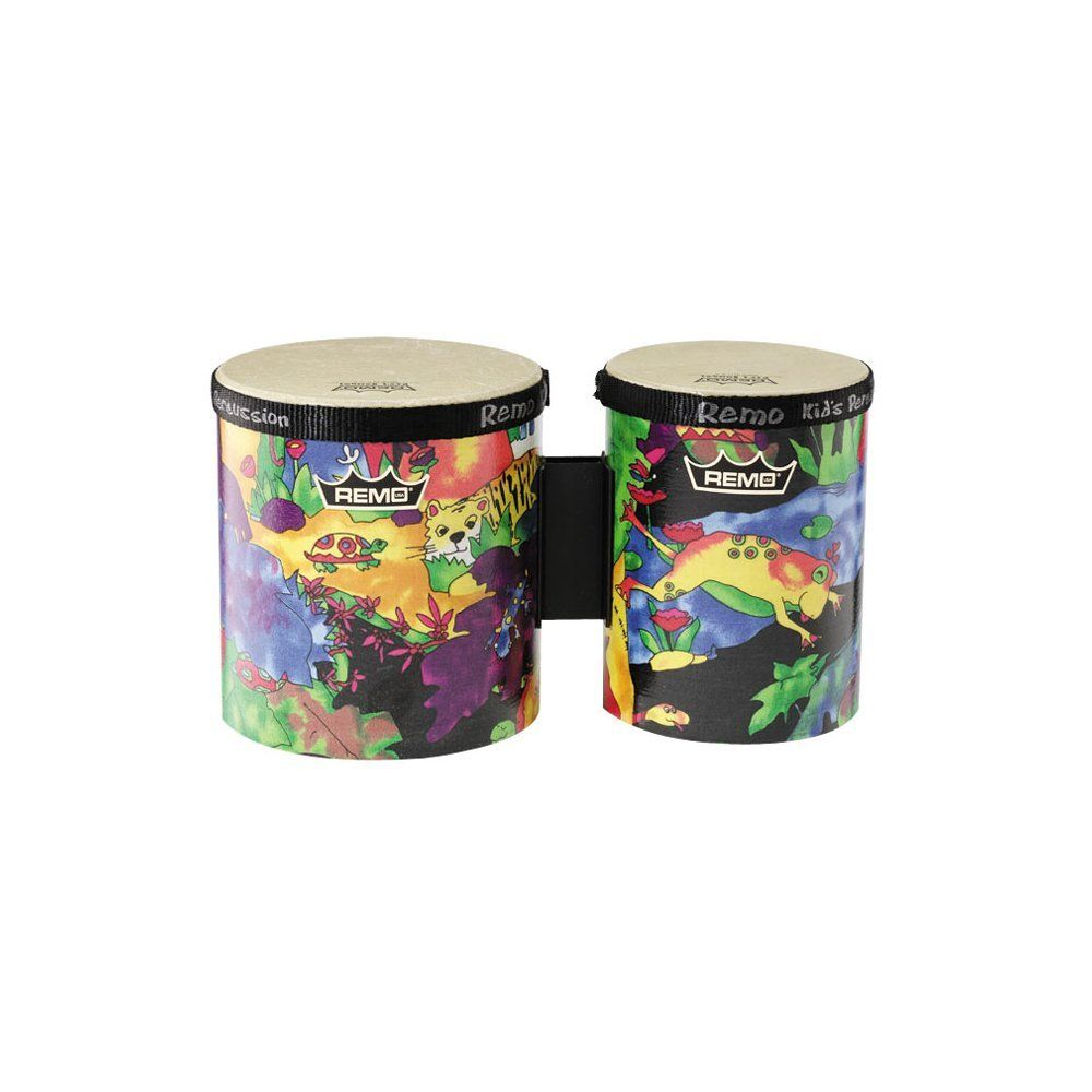 "AmazonSmile: Remo Kids Percussion Bongo Drum - Fabric Rain Forest, 5""-6"": Musical Instruments"