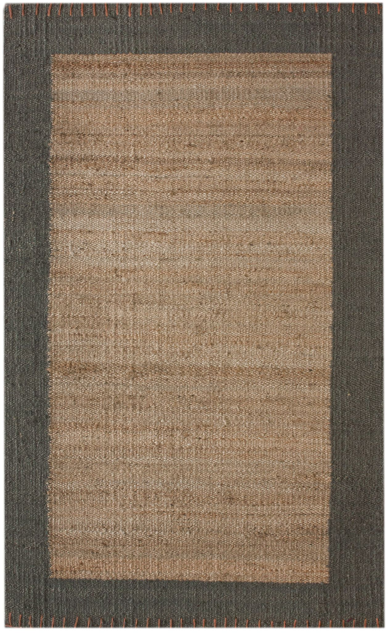Cameron 100% Jute Area Rug in Natural design by NuLoom