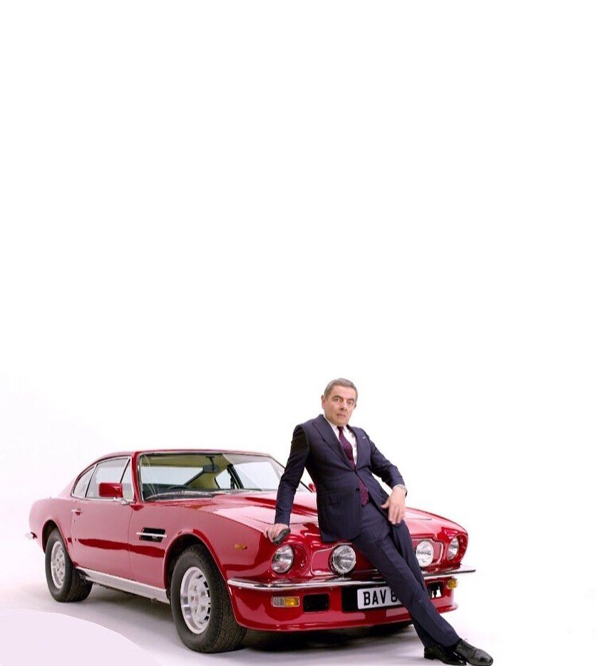 Rowan Atkinson Aston Martin V8 Vantage Mki Johnny English Strikes Again 2018 Rowanatkinson Astonmartin Aston Martin V8 Aston Martin Johnny English