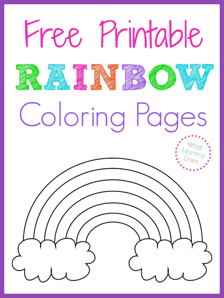 Free Printable Rainbow Coloring Pages Printables Free Kids Rainbow Birthday Party Rainbow Theme