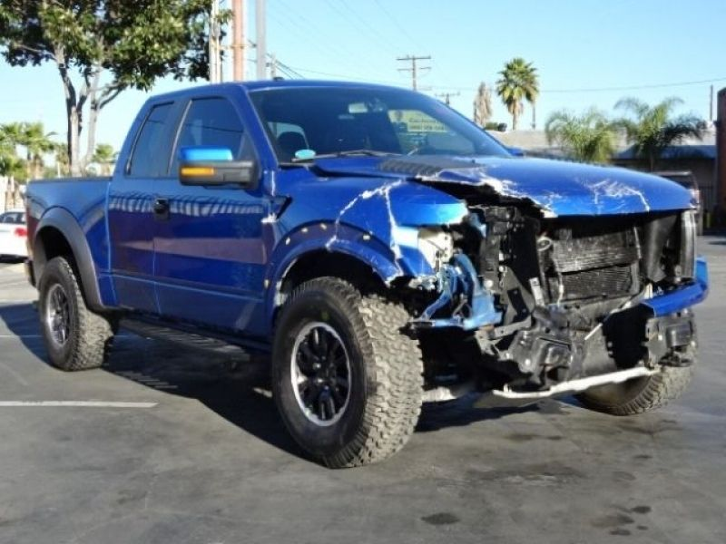 2010 Ford F 150 Svt Raptor Supercab 4wd Damaged Salvage Perfect For