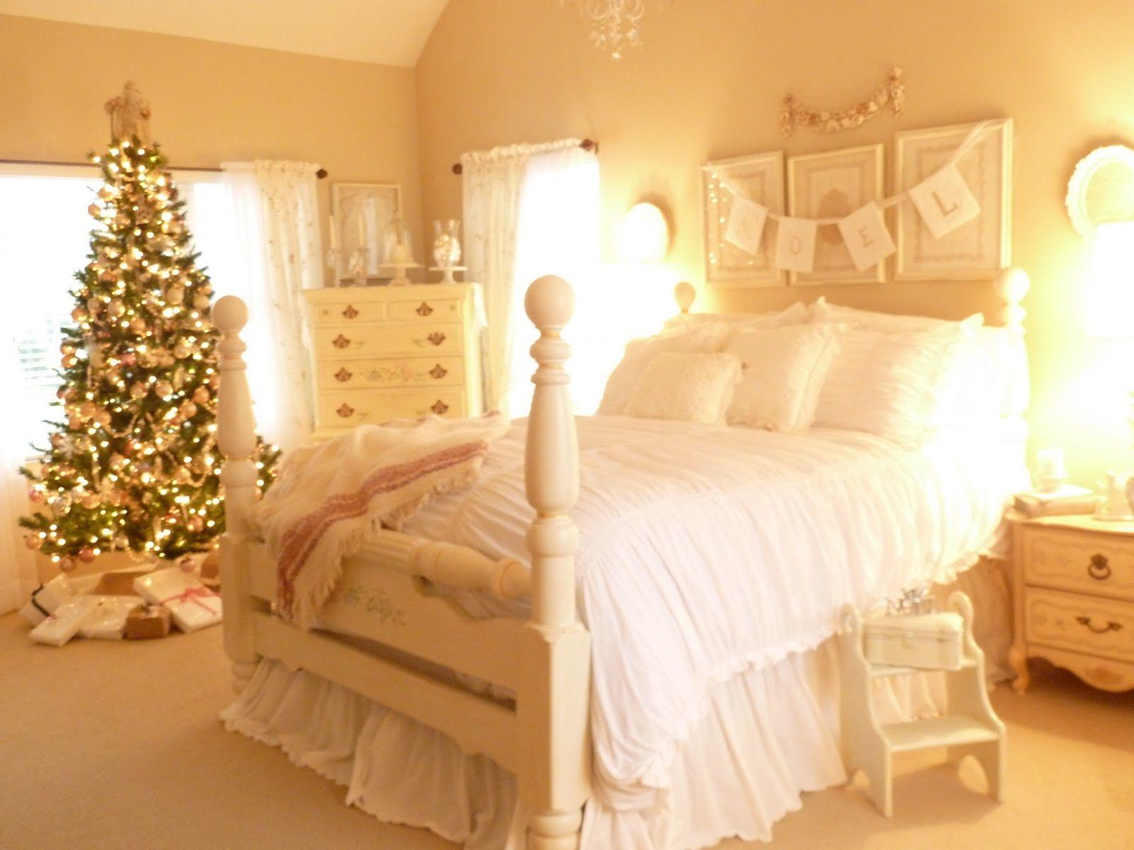 White Christmas Bedroom~   Ashley   Pinterest   Christmas bedroom ...