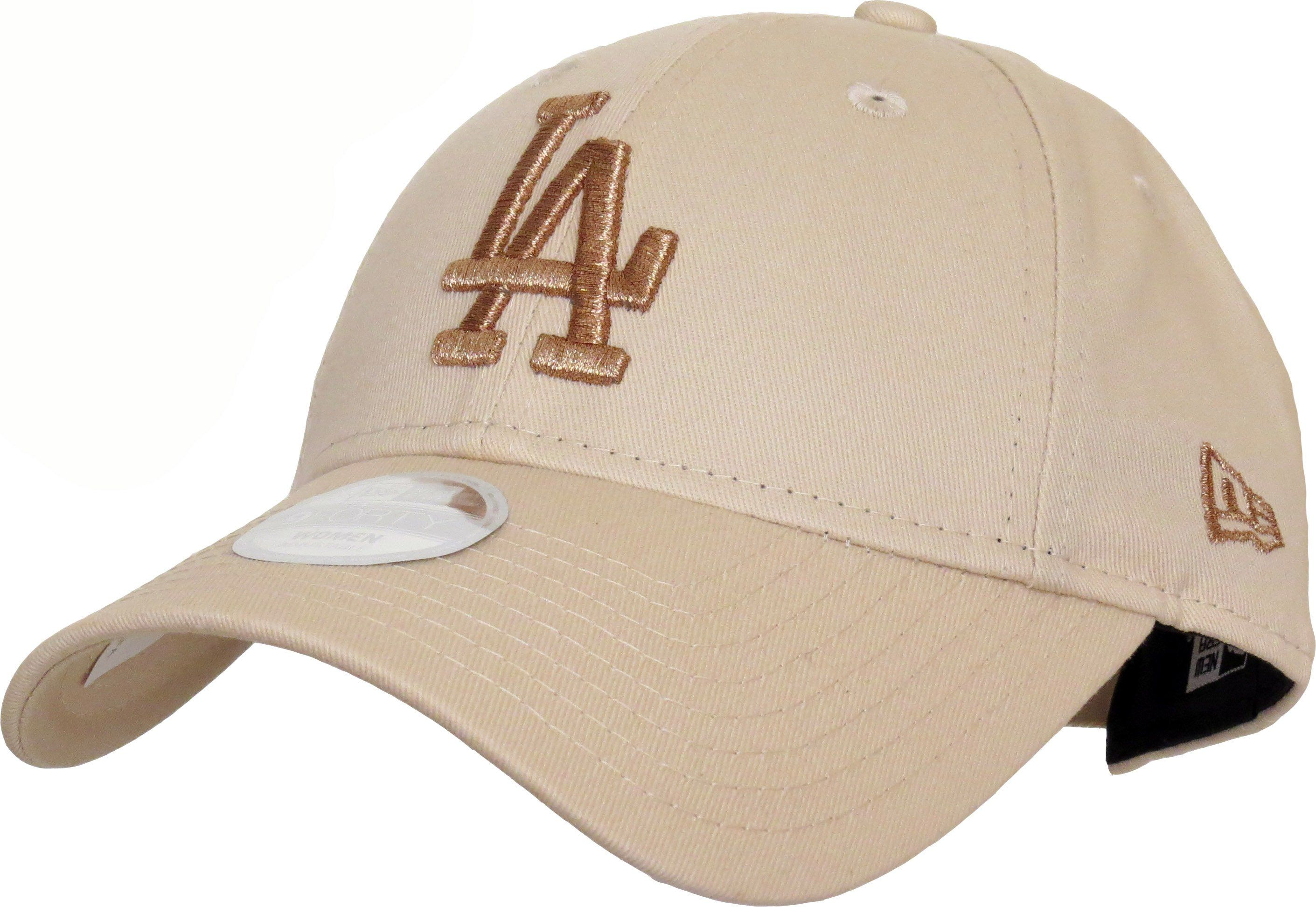 996614de New Era 9Forty Womens LA Dodgers Baseball Cap. Stone coloured, with the  Gold LA Dodgers front logo, and the New Era side logo. Adjustable rear  slide strap.