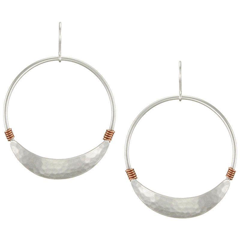 Marjorie Baer Textured Silver Copper Wrap Hoop Earrings   Products ...