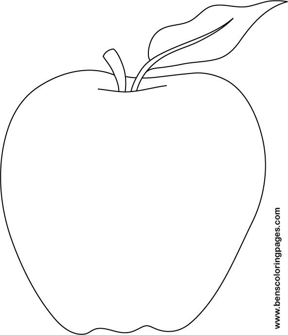 Apple coloring picture print
