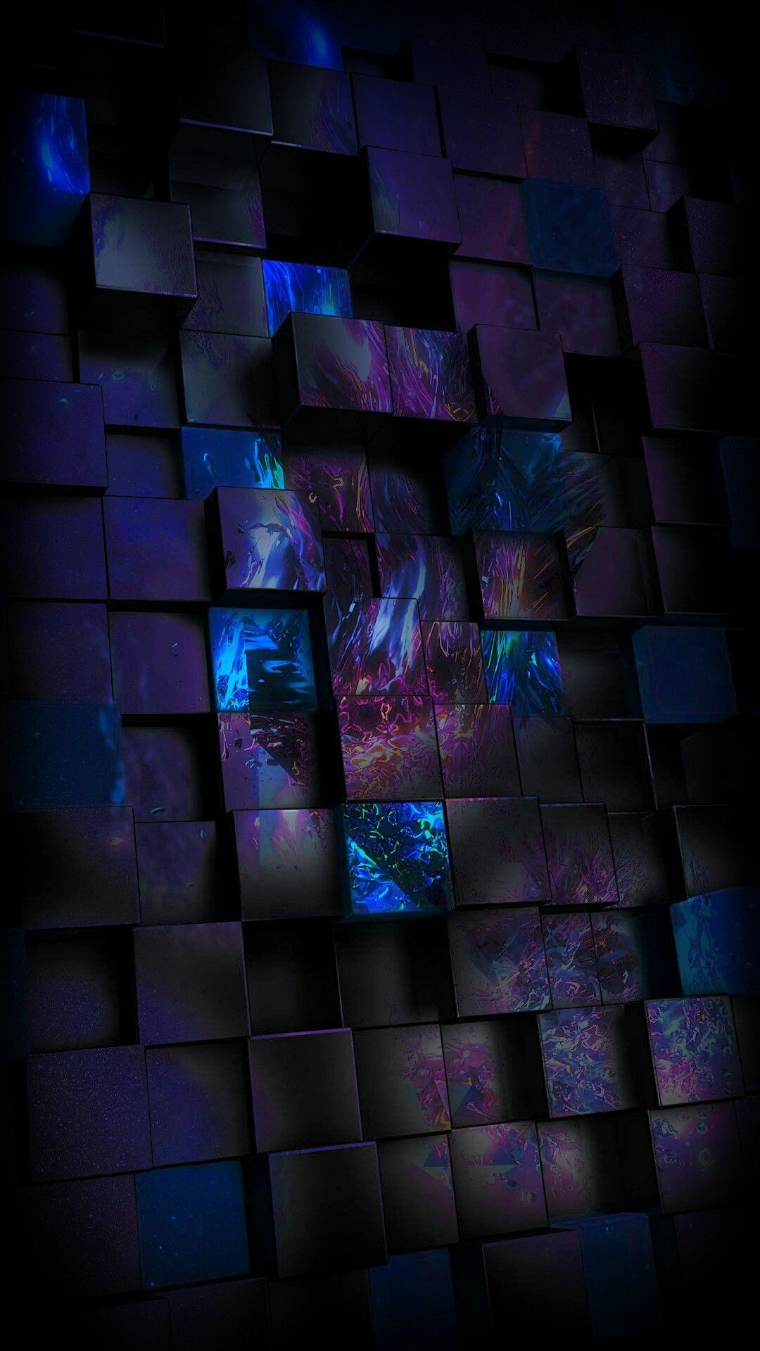 Glowing Abstract Squares Wallpaper