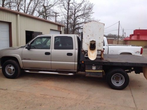 2001 Gmc 3500 4wd Flatbed W Feeder For Sale For More Information