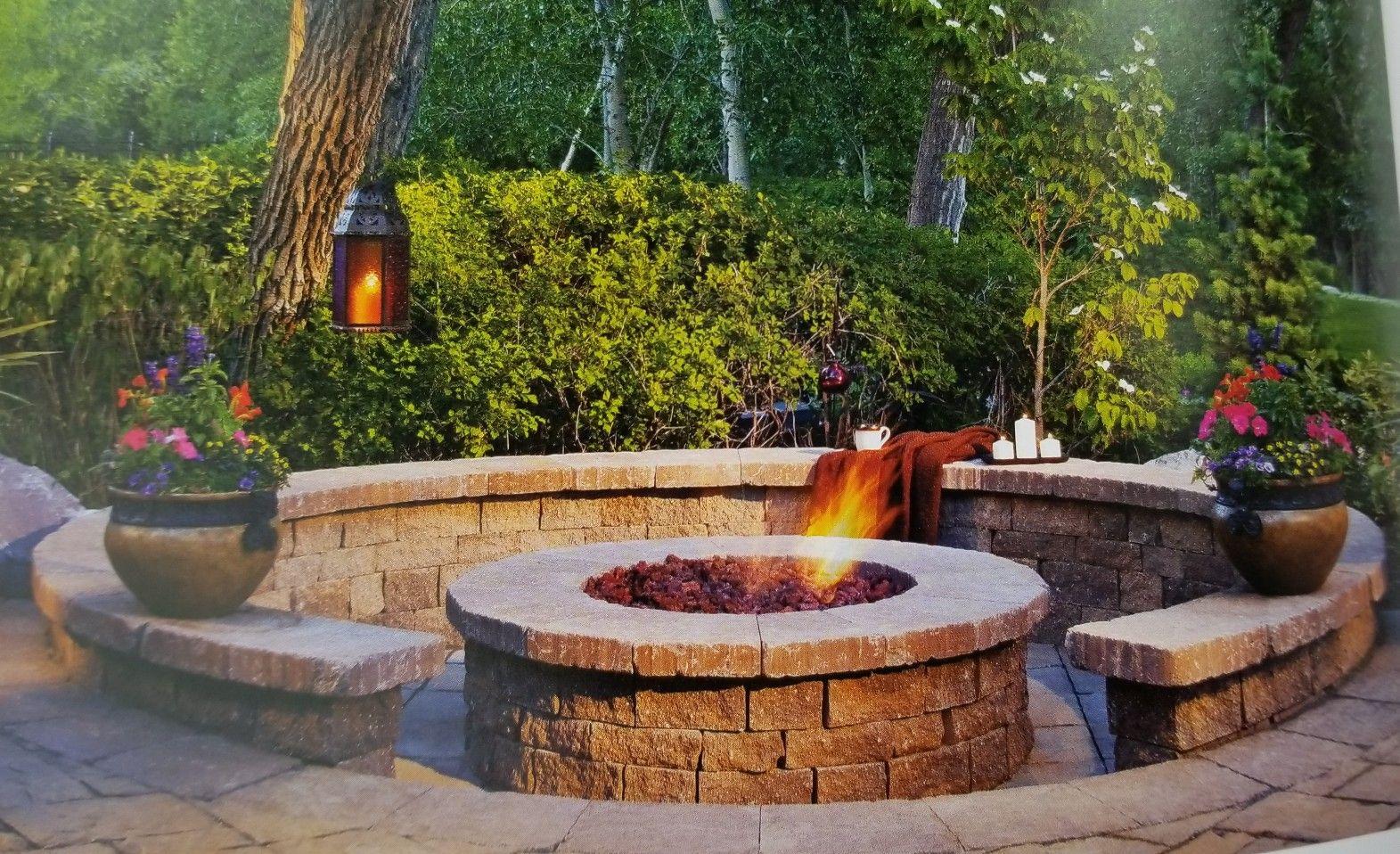 Pin by Rachel on yard and outdoors   Backyard fire, Sunken ...