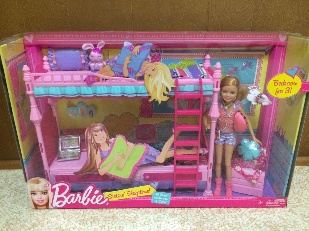 Barbie Sister Skipper Chelsea Stacie Doll Sleeptime Fun