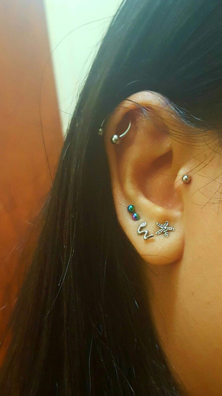 Nose piercing through the middle  piercing helix tragus traguspiercing helixpiercing turkey  e
