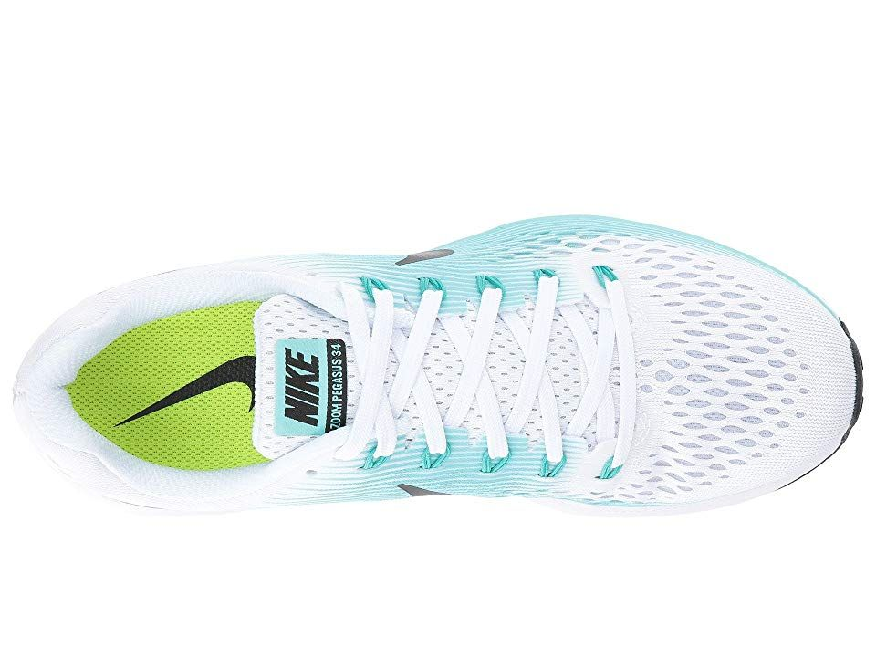 the latest 66237 d5d9b Nike Air Zoom Pegasus 34 Women's Running Shoes White/Black/Aurora Green